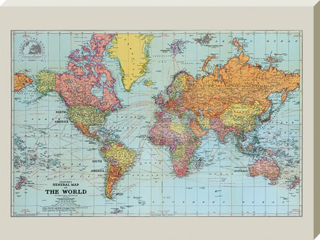 Stanfords Colour General Map of the World - 1920