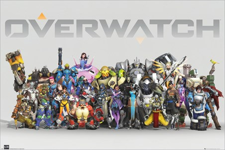 Framed Anniversary Line Up - Overwatch