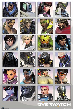 Framed Character Portraits - Overwatch