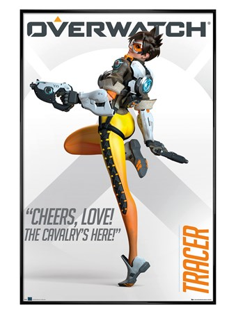 Gloss Black Framed Tracer - Overwatch