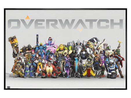 Gloss Black Framed Anniversary Line Up - Overwatch