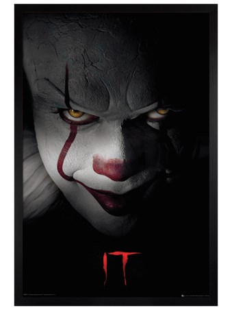 Black Wooden Framed Pennywise Clown - IT