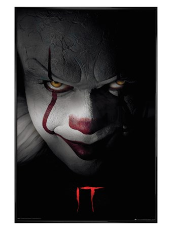 Gloss Black Framed Pennywise Clown - IT