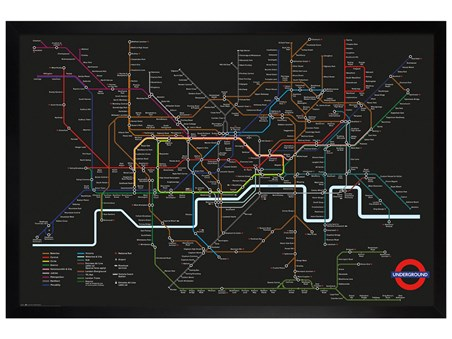 Black Wooden Framed Transport For London - Rainbow Network