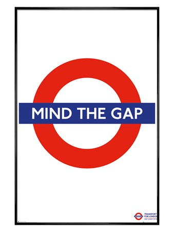 Gloss Black Framed Mind The Gap - Transport For London