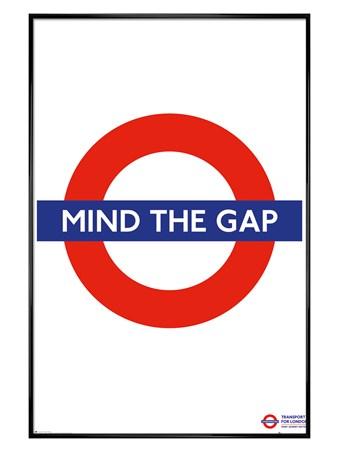 Gloss Black Framed Mind The Gap, Transport For London