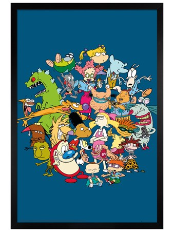 Framed Black Wooden Framed Group - Nickelodeon
