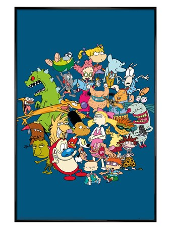 Gloss Black Framed Group - Nickelodeon