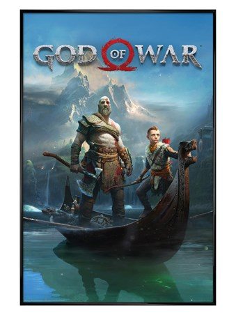 Gloss Black Framed To Lands Unknown - God Of War