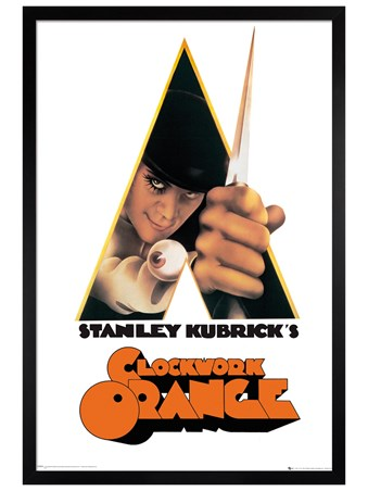 Black Wooden Framed A Stanley Kubrick's Movie - Clockwork Orange