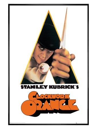 Gloss Black Framed A Stanley Kubrick's Movie - A Clockwork Orange