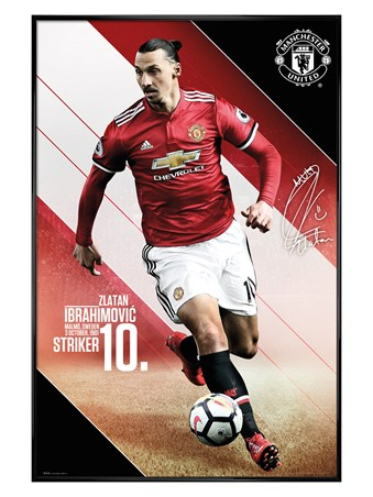 Framed Gloss Black Framed Ibrahimovic 17-18 - Manchester United
