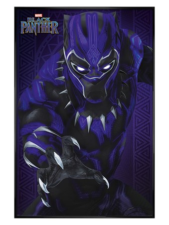 Glow - Gloss Black Framed Black Panther