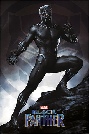 Framed Black Panther Stance - Marvel