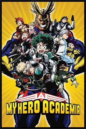 Framed Radial Character Burst - My Hero Academia