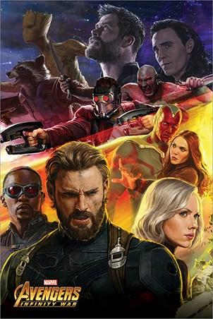 Framed Infinity War Captain America - Avengers