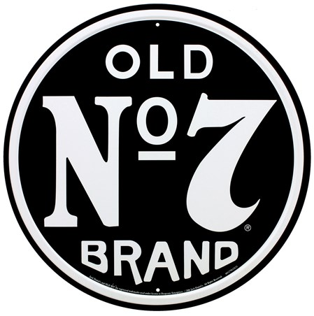 Old no 7 brand jack daniels tin sign