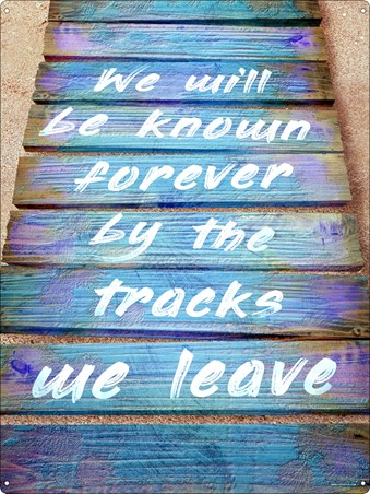 We Will Be Known Forever By The Tracks We Leave - At Peace