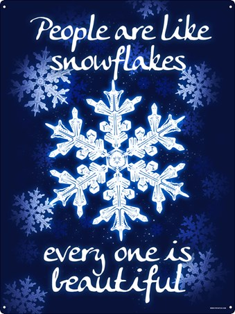 People Are Like Snowflakes - Beautiful