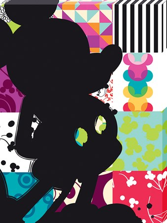 Patchwork Silhouette - Mickey Mouse