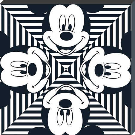 Stripe Squares - Mickey Mouse