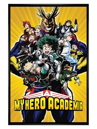 Gloss Black Framed Radial Character Burst - My Hero Academia