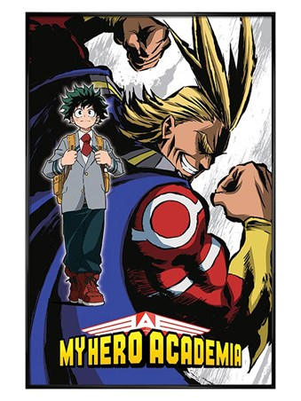 Gloss Black Framed Not A Hero - Academia