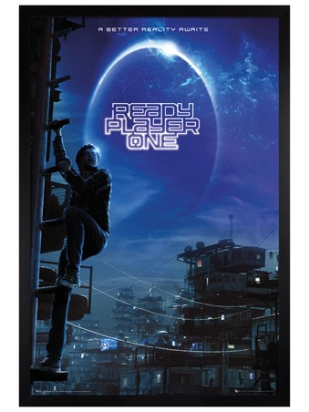 Black Wooden Framed Wade Watts - Ready Player One