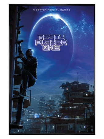 Gloss Black Framed Wade Watts - Ready Player One