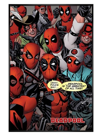 Gloss Black Framed Selfie - Deadpool