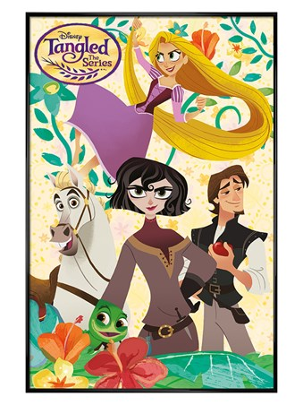 Gloss Black Framed The Series Characters - Tangled