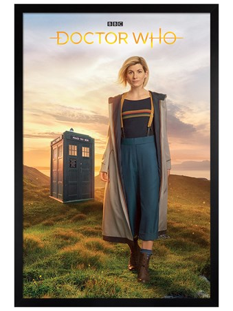 Black Wooden Framed 13th Doctor - Doctor Who