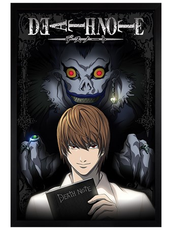 Black Wooden Framed From The Shadows - Death Note