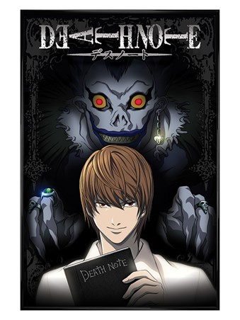 Gloss Black Framed From The Shadows - Death Note