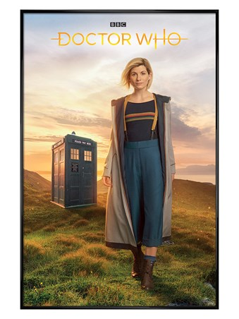 Gloss Black Framed 13th Doctor - Doctor Who