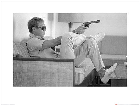 Steve McQueen Takes Aim - Time Life