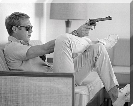 Steve McQueen Takes Aim - Time Life