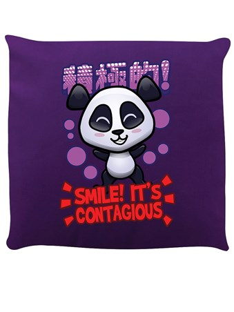 Smile! Purple Cushion - Handa Panda