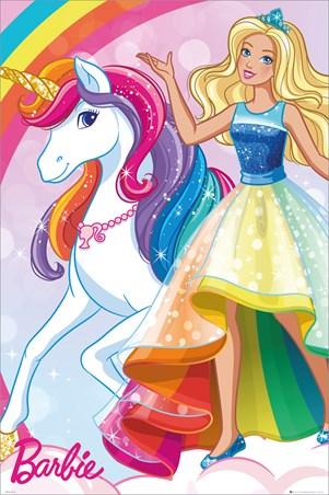 Glittering Rainbow Unicorn - Barbie