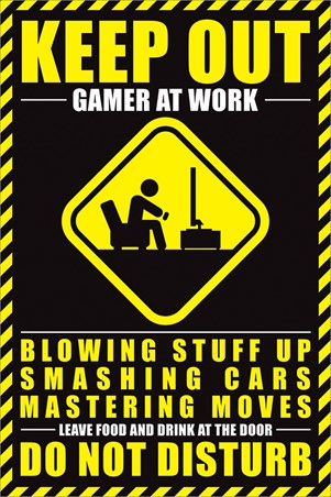 Framed Gamer At Work - Do Not Disturb