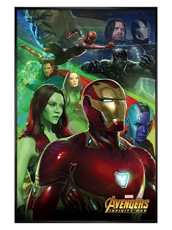 Gloss Black Framed Iron Man - Avengers Infinity War