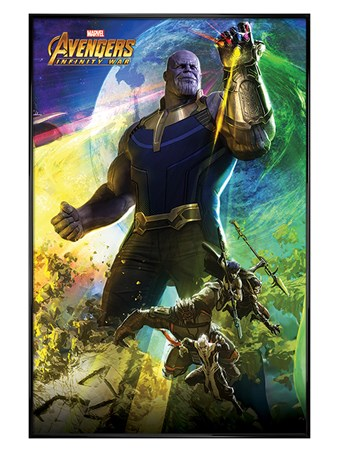 Gloss Black Framed Thanos - Avengers Infinity War