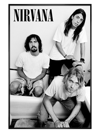Gloss Black Framed Kurt And Co, Nirvana