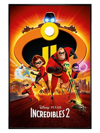 Gloss Black Framed Super Five To The Rescue! - Incredibles 2