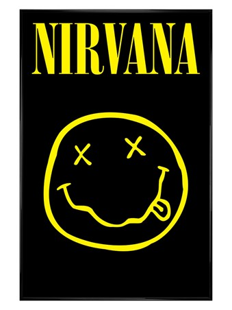 Gloss Black Framed Smiley, Nirvana