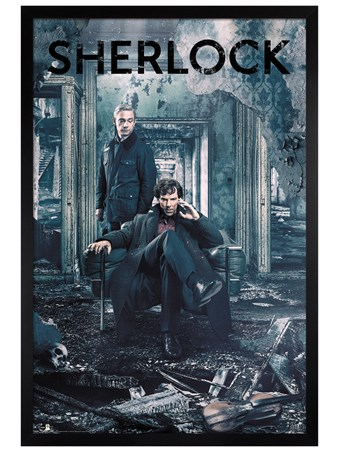 Framed Black Wooden Framed Destruction - Sherlock