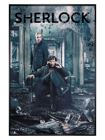 Framed Gloss Black Framed Destruction - Sherlock