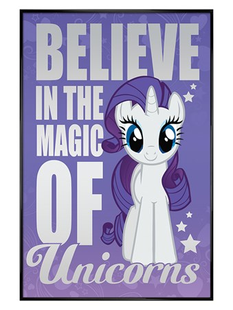 Gloss Black Framed Believe In The Magic Of Unicorns - My Little Pony