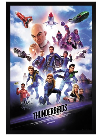 Black Wooden Framed Thunderbirds Are Go - Thunderbirds