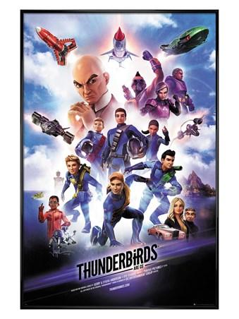 Gloss Black Framed International Rescue! - Thunderbirds Are Go